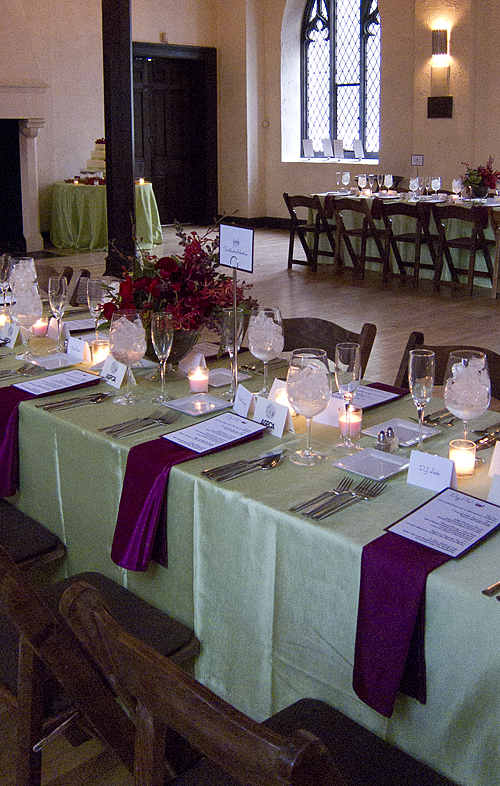Hereu0027s a closer shot of the table setting. : table setting with napkins - pezcame.com