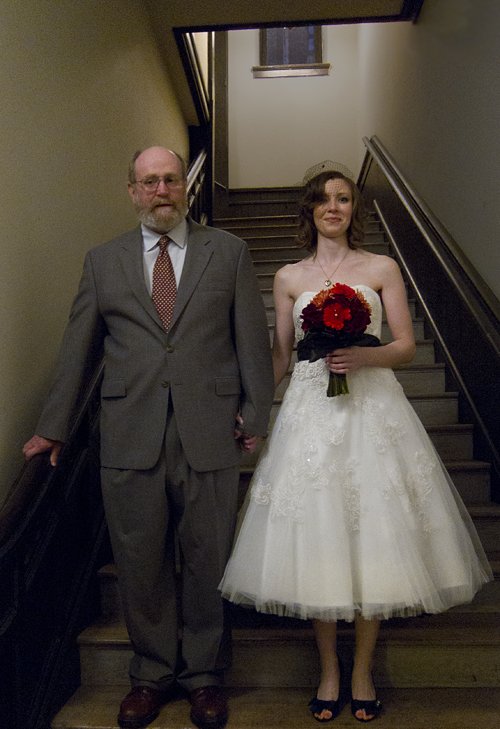 Bride And Her Father Before The Ceremony Chase Court Baltimore