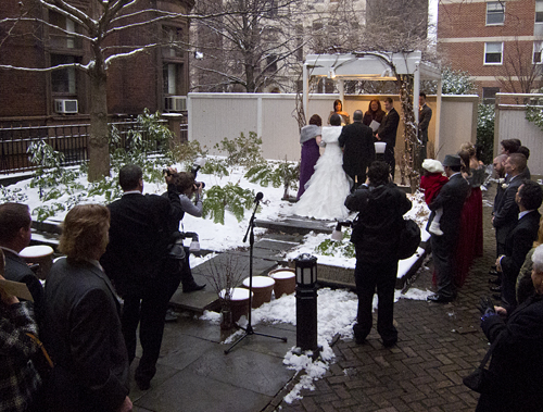 Beautiful Winter Wedding Outside Chase Court Baltimore Maryland Wedding Venue
