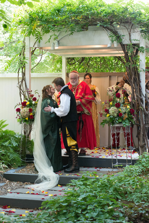 Renaissance Bride and Groom with Cardinal Sinnius Vice at Chase Court