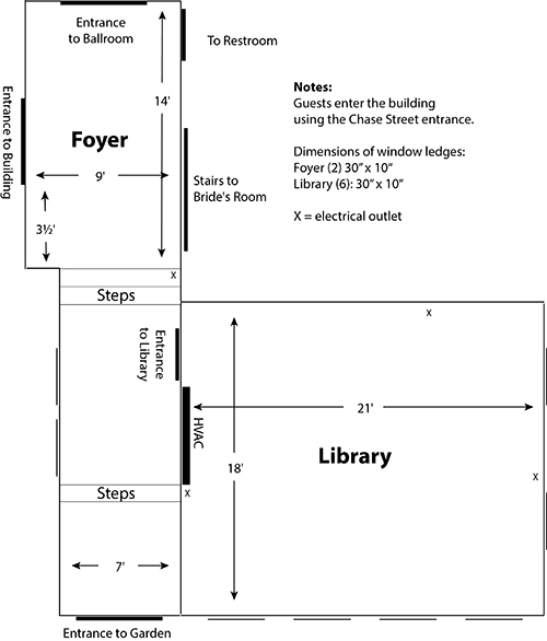 Library and Foyer Floor Plan