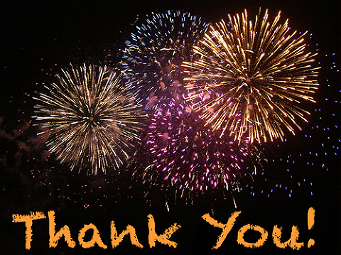 Fireworks with Thank You-500