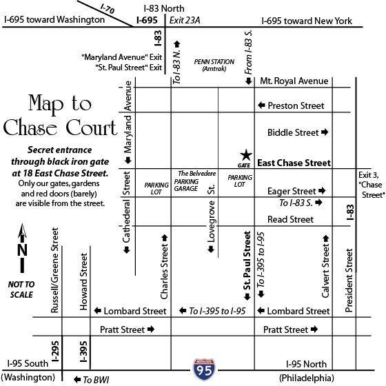 Map to Chase Court - square