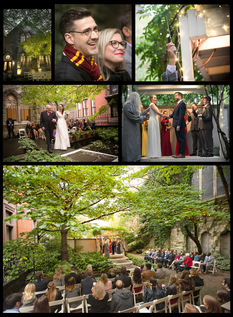 Harry Potter wedding at Chase Court in Baltimore, Maryland.