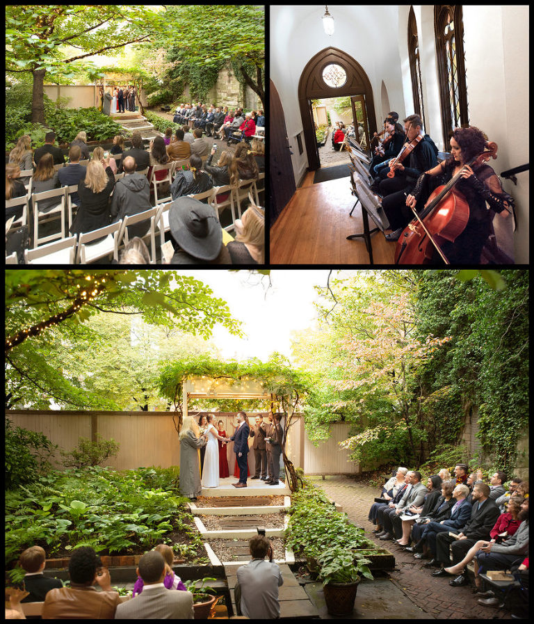 Harry Potter Wedding of the Year in the Ceremony Garden at Chase Court in Baltimore, Maryland