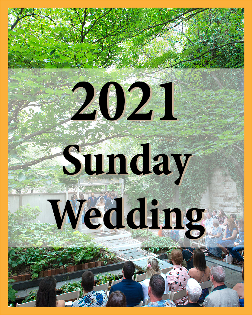2021 Sunday Wedding