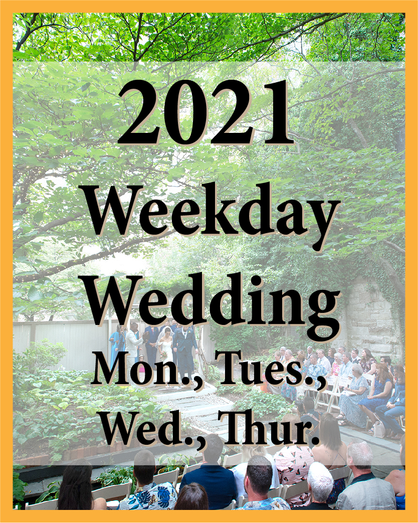 2021 Weekday Wedding