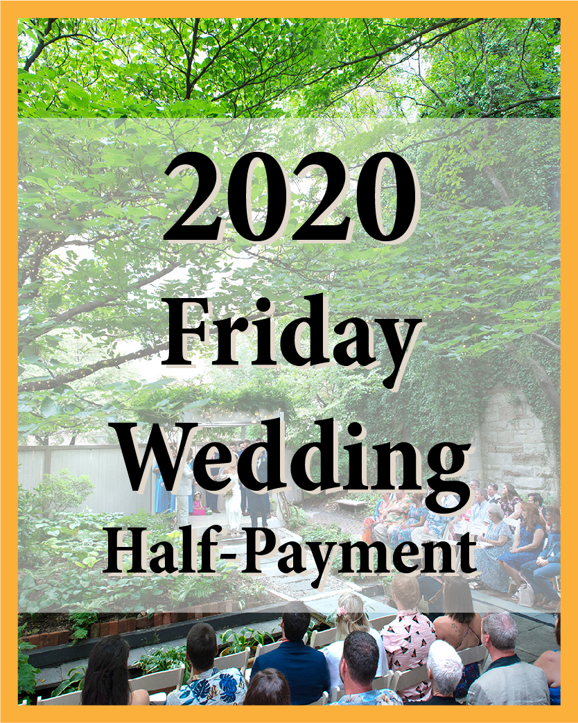 2020 Friday Wedding