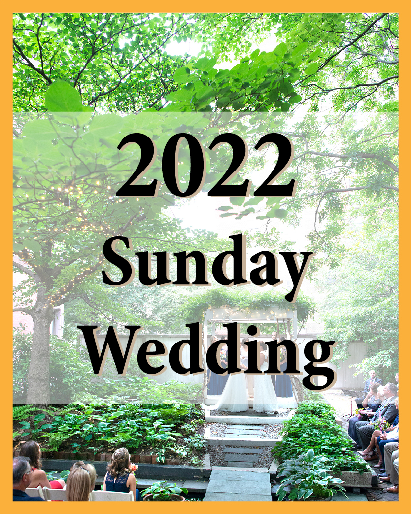 2022 Sunday Wedding