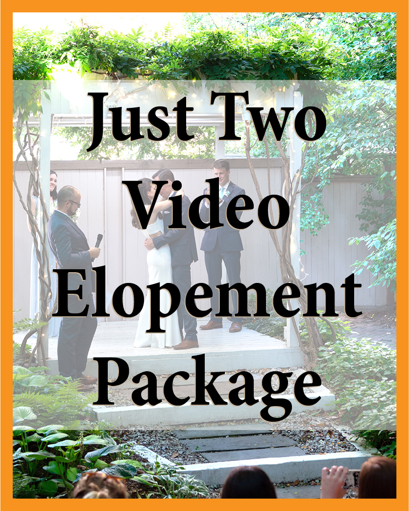 Just Two Video Elopement Package
