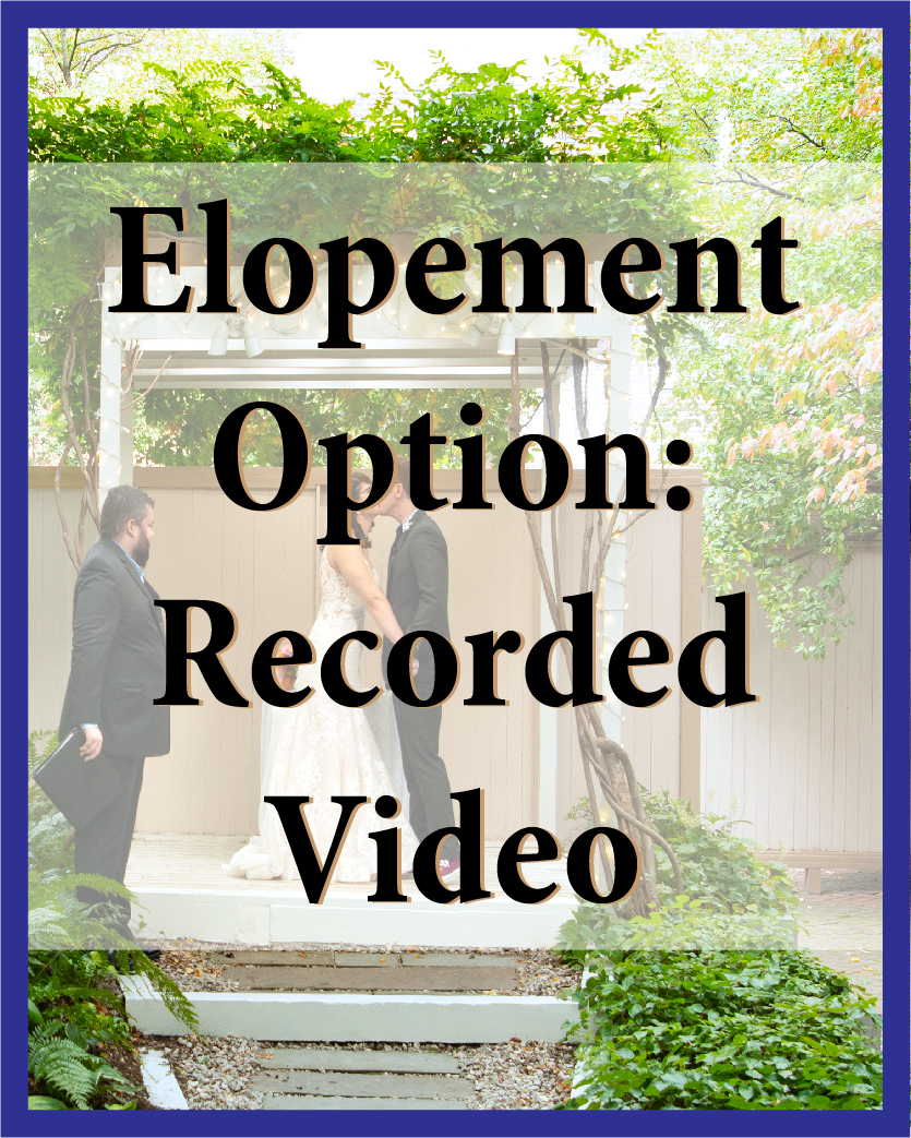 Imagine seeing a video of your wedding ceremony online, just 24 hours after it happened! You can download it at no extra charge, and save it to share or view whenever you want.