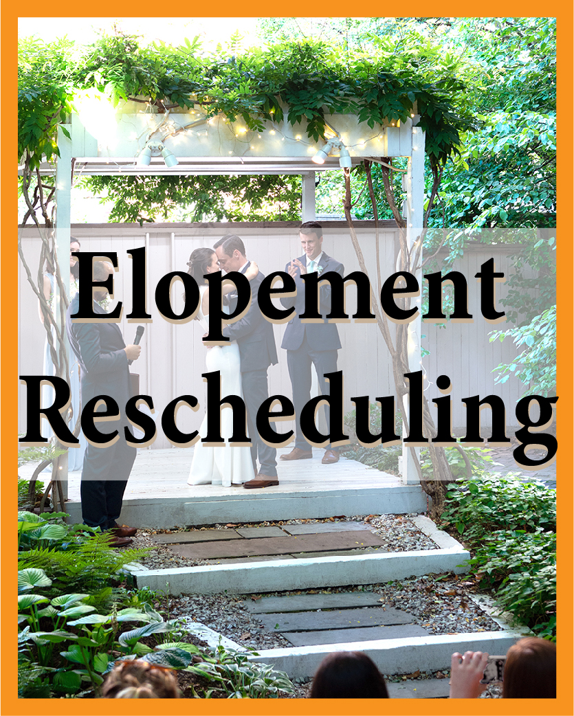 Elopement Rescheduling Fee