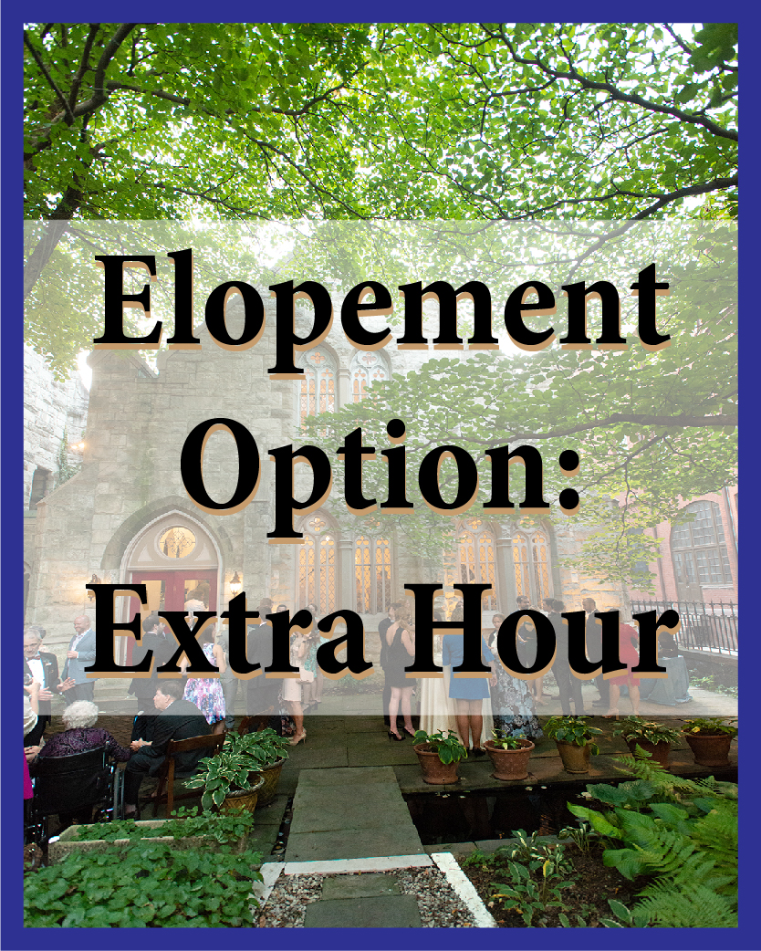 Add an extra hour to any of the elopement packages.